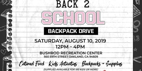 Passionate and Prepared Presents: Back 2 School Backpack Drive  tickets