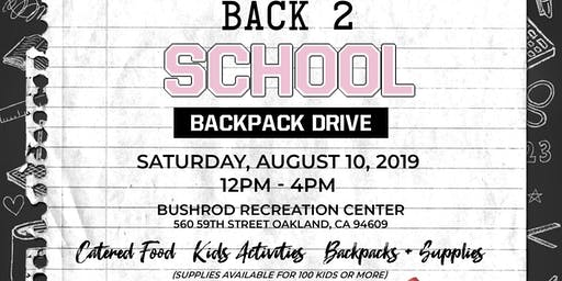 Passionate and Prepared Presents: Back 2 School Backpack Drive