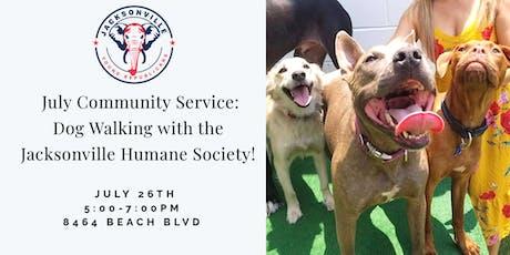 JYR July Community Service: Dog Walking w/ the Jax Humane Society! tickets