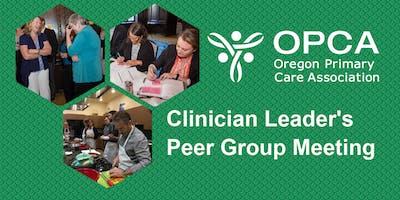 FQHC Clinician Leaders/Medical Directors Peer Group Meeting
