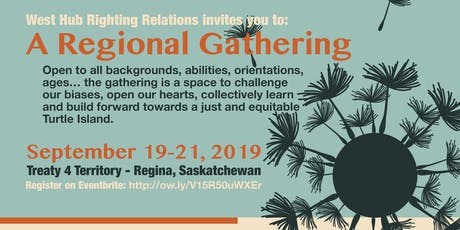 Righting Relations West Hub Regional Gathering tickets
