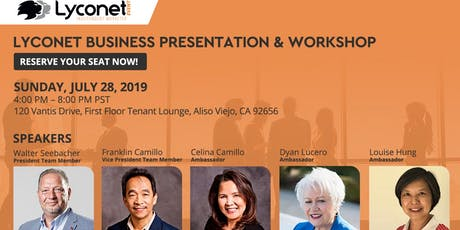 Lyconet business info + workshop (California) tickets