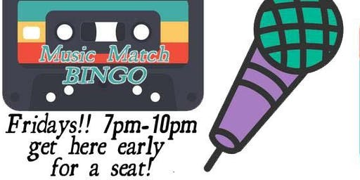Music Match Bingo Fridays