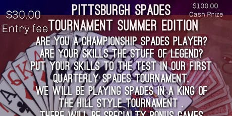 Pittsburgh Spades Tournament Summer Edition  tickets