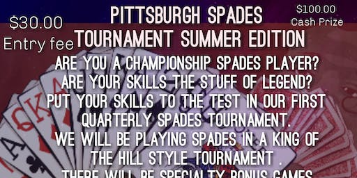 Pittsburgh Spades Tournament Summer Edition