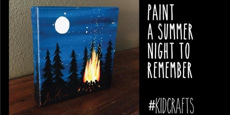 "Kids Paint ""Camping in the Woods"" - Canvas Paint Lesson tickets"