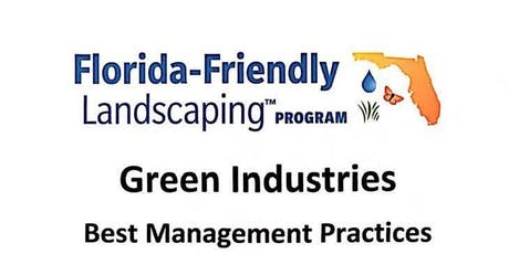 GREEN INDUSTRIES BEST MANAGEMENT PRACTICES (GI-BMP) tickets