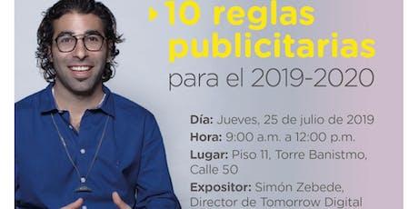 10 reglas publicitarias 2019-2020 tickets
