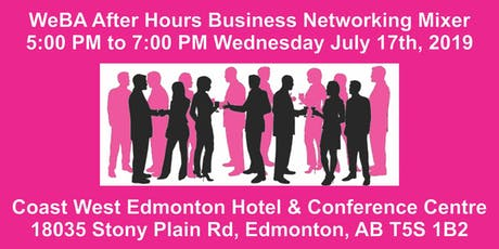 WeBA Mixer at Coast West Edmonton Hotel July 17/19 tickets