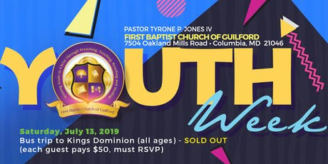 FBCOG Youth Week Activities tickets