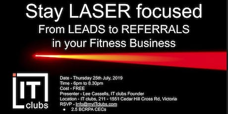 Stay Laser Focused tickets