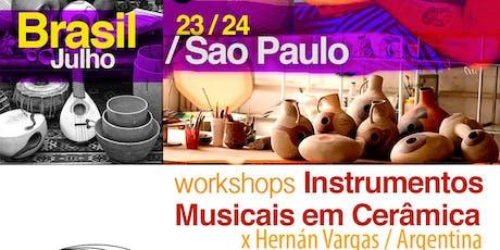 Workshops instrumentos em cerâmica x Hernan Vargas / Argentina ingressos