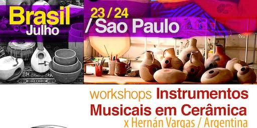 Workshops instrumentos em cerâmica x Hernan Vargas / Argentina