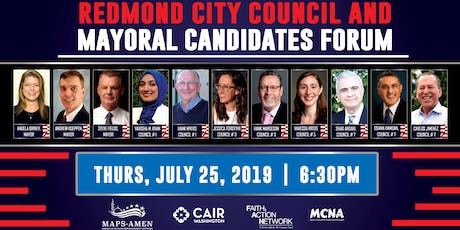 Redmond City Council & Mayoral Candidates Forum tickets