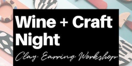 Wine + Craft Night: Clay Earring Workshop tickets
