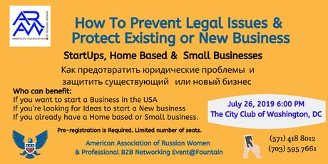 Workshop: How To Prevent Legal Issues & Protect Existing or New Business  tickets
