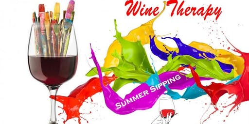 Summer's Sipping & Painting Wine Therapy - Wine Glass or Bottle
