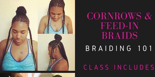 Cornrows & Feed In Braids *Braiding 101