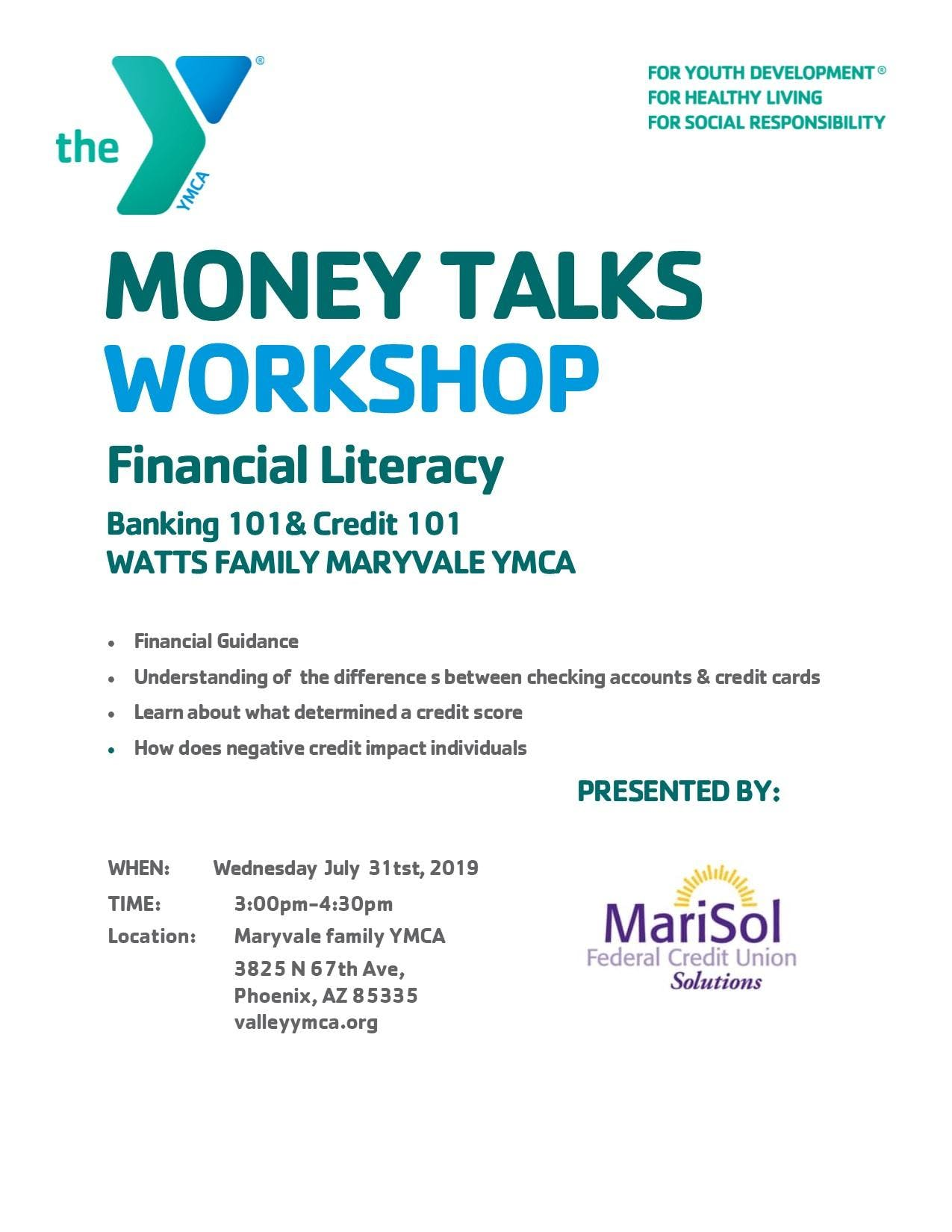 Money Talks-Financial Literacy Workshop
