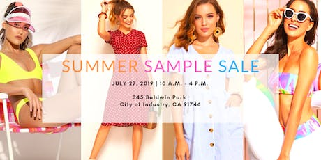 SHEIN Summer Sample Sale tickets
