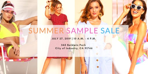 SHEIN Summer Sample Sale