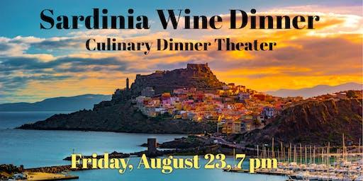 Sardinia Wine Dinner| Culinary Dinner Theater