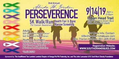 Akida H. Jordan PERSEVERENCE 5K Walk/Run tickets