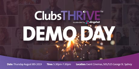 ClubsTHRIVE Accelerator Demo Day 2019 tickets