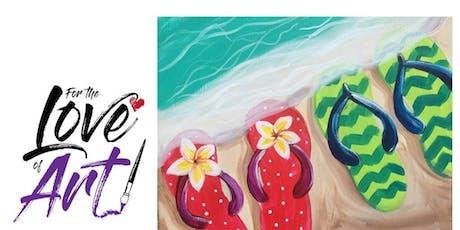Paint and Sip Class: Fancy Flip Flops tickets
