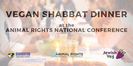Vegan Shabbat Dinner at the Animal Rights Conference