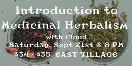 Introduction to Medicinal Herbalism w/ Cloud tickets