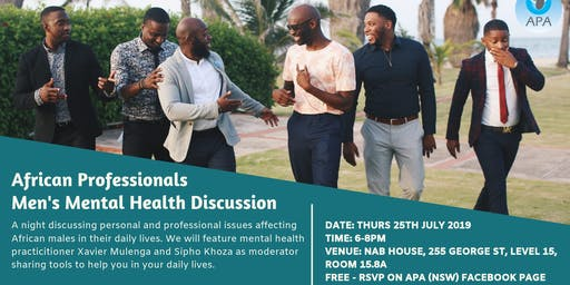 African Professionals Men's Mental Health Discussion