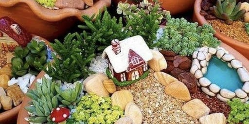 Kids succulent miniature garden workshop