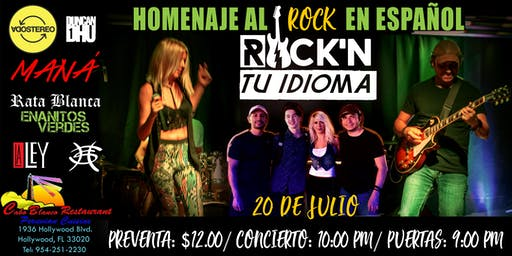Una Noche de ROCK EN TU IDIOMA en Hollywood, FL