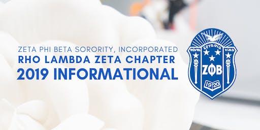 2019 INFORMATIONAL INTEREST MEETING: Zeta Phi Beta Sorority, Incorporated