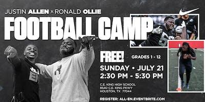 Justin Allen x Ronald Ollie Football Camp