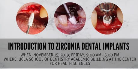 Hands-on Workshop: Introduction to Zirconia Dental Implants tickets