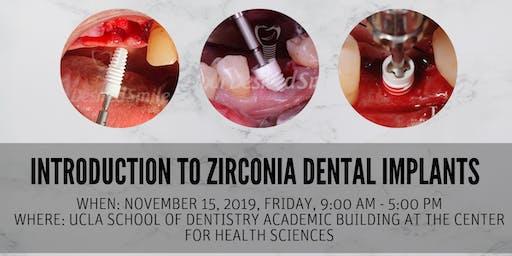 Hands-on Workshop: Introduction to Zirconia Dental Implants