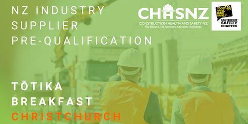 CHASNZ | NZ Industry Supplier Pre-Qualification, Tōtika breakfast | CHC
