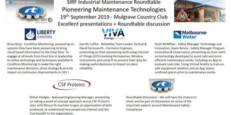 VICTAS IMRt Pioneering Maintenance Technologies Roundtable - Mulgrave Country Club tickets