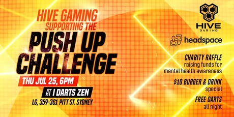 Hive Gaming supporting the Push Up Challenge tickets