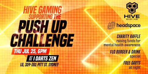Hive Gaming supporting the Push Up Challenge