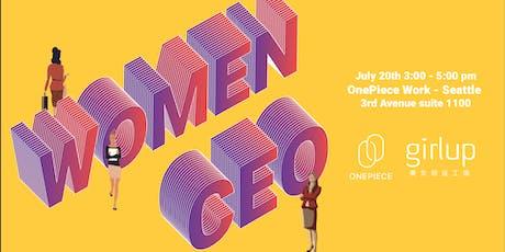 GirlUp X OnePiece Work: Women CEOs(Greenish) tickets