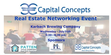 Capital Concepts Real Estate  Networking Event  tickets