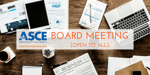 ASCE OC YMF - July 2019 Board Meeting at Fuscoe (OPEN TO ALL)