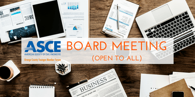 ASCE OC YMF - August 2019 Board Meeting at Fuscoe (OPEN TO ALL)