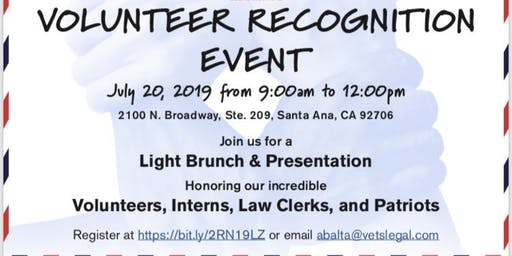Veterans Legal Institute Volunteer Recognition Brunch
