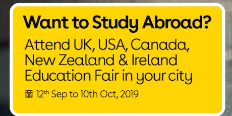 Want to Study Abroad? Attend UK, USA, Canada, New Zealand & Ireland Education Fair in Delhi tickets