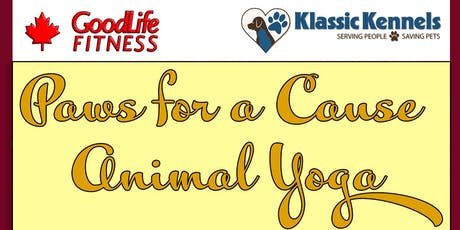 Paws for a Cause Animal Yoga tickets