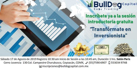 """Sesión Introductoria Gratuita """"Transformate en Inversionista"""" boletos"""